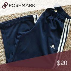 Ladies Adidas mesh capri length pants Navy blue Adidas Pants Track Pants & Joggers
