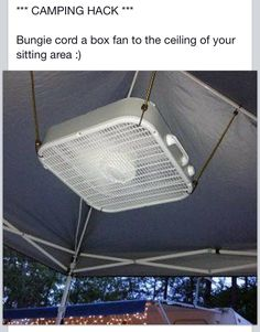 Camping hack (um brilliant! I wonder if we could rig this under the camper awning?!)