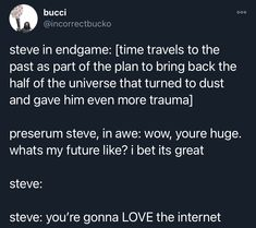 IncorrectBucko Tweets Avengers Cast, Avengers Memes, Marvel Memes, Marvel Avengers, Marvel Comics, Stupid Funny Memes, Funny Quotes, Superfamily Avengers, Marvel Quotes