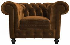 fotel Chesterfield, styl angielski, armchair, głęboko pikowany, plusz, velvet, brazowy brown,  fotel_chesterfield_lady_rem_IMG_3798b.jpg (925×600)