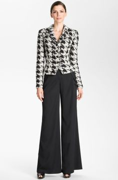 St. John Collection Houndstooth Fitted Jacket by nordstrom