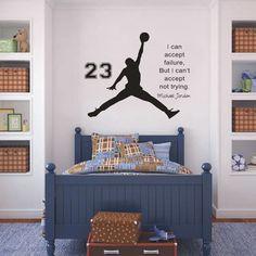 Inspirational Wall Sticker Quotes Basketball  Vinyl Wall Decals Wall Mural Art Kids Children Room Home Decor Wall Stickers-in Wall Stickers from Home & Garden on Aliexpress.com | Alibaba Group