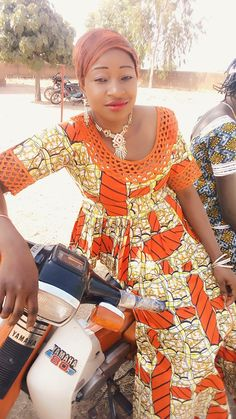FROM DRC African Maxi Dresses, Ankara Dress, African Print Fashion, Africa Fashion, African Wear, African Attire, Orange Gown, African Beauty, Couture