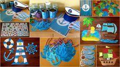 Námořnická 1.B - různé: klasifikační sešit, rybičky (motivace), kotvy se jmény na služby, cedulky se jmény na šuplíky... Pirate Activities, Activities For Kids, Crafts For Kids, Beach Crafts, Classroom Decor, 9 And 10, Sailor, Kids Rugs, Album