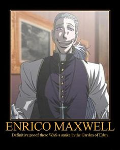 "Enrico Maxwell, from ""Hellsing Ultimate"""