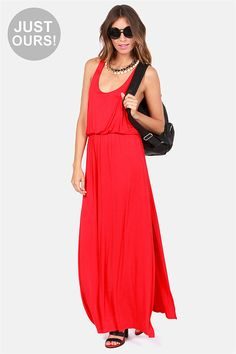 Most Wanted Red Maxi Dress