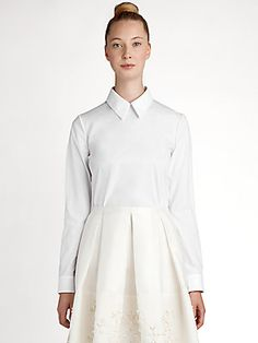 Jil Sander Navy Classic Collar Shirt