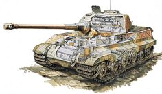Panzerkampfwagen Tiger Ausf. B - Tank Schematic / Blueprint Type: Heavy tank Place of origin: Germany In service: 1944–1945 Wars: World War II Designer: Henschel & Son / Krupp (turret) Designed: 1943 Manufacturer: Henschel & Son / Krupp (turret) Produced: 1943–1945 Number built: 492 Weight: 68.5 tonnes (67.4 long tons; 75.5 short tons) (early turret) 69.8 tonnes (68.7 long tons; 76.9 short tons) (production turret) Length: 7.38 metres (24 ft 3 in) (hull) 10.286 metres (33 ft 9 in)