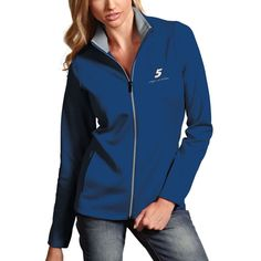 Kasey Kahne Antigua Women's Leader Full Zip Jacket - Royal https://www.fanprint.com/stores/nascar-?ref=5750