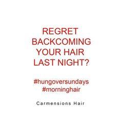We feel your pain this morning #hungover hair detangling Two days till #halloween  . . #halloweenhair #regrets #halloweenweekend #onemoredrink #onemoreshot #hungoversundays #morninghair #backcombing #carmensionshair #haircompany #london
