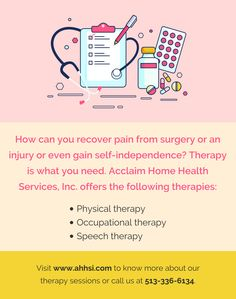 How can you recover pain from surgery or an injury or even gain self-independence? Visit www.ahhsi.com to know more about our therapy sessions or call us at 513-336-6134. #HomeHealth