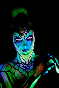 blacklight makeup inspo