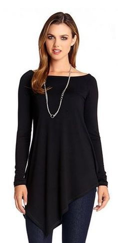 Asymmetrical Hem Lines!Chic and Slimming!