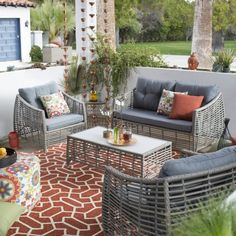 Belham Living Kambree All Weather Wicker Outdoor Conversation Set
