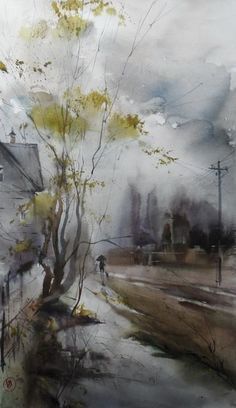 Unrestrained Watercolors……Sweet, fond memories of art study & application…