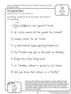 A Capital Idea - Fun English Worksheets for Kids