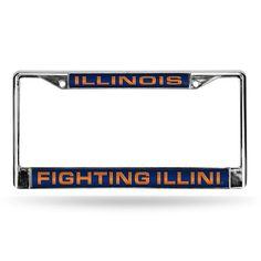 Illinois Fighting Illini Laser Chrome Frame