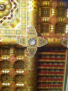 A ceiling detail at Cardiff Castle. Designed by William Burges