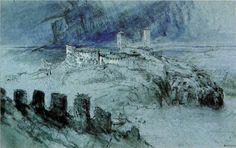 Bellinzona - Ruskin John Date: 1858 Style: Romanticism Genre: landscape
