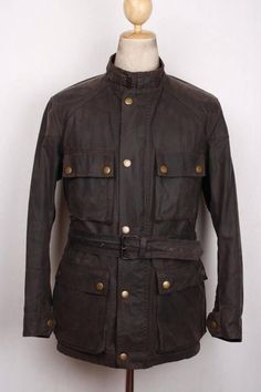 Stunning Vtg 1930s Grizzly Leather Horsehide Motorcycle