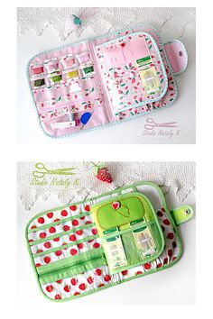 Organizer for cross stitch hand embroidery for hoop 6 in craft tool case. Sewing Case, Hand Sewing, Diy Embroidery, Cross Stitch Embroidery, Costura Diy, Needle Book, Sewing Projects, Sewing Kits, Sewing Accessories