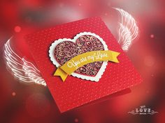 Dali's Heart. Red Exclusive card for a loved one.