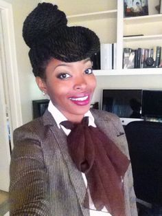 Havana twist protective style for natural hair