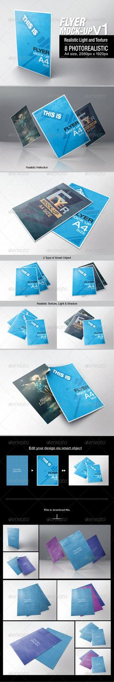 Flyer Mock-up Download: http://graphicriver.net/item/flyer-mockup-v1/6645787?ref=ksioks