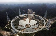 """""""Having a more sensitive telescope, we can receive weaker and more distant radio messages,"""" Wu Xiangping, director-general of the Chinese Astronomical Society, said of the 500-meter Aperture Spherical Radio Telescope (FAST) nestled in a bowl-shaped valley between hills in the southwestern province of Guizhou """"It will help us to search for intelligent life outside of the galaxy and explore the origins of the universe,"""" he added underscoring the China's race to be the first nation to discover…"""