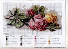 los gráficos del gato: FLORES Basic Embroidery Stitches, Cross Stitch Embroidery, Embroidery Patterns, Cross Stitch Patterns, 123 Cross Stitch, Beaded Cross Stitch, Cross Stitch Flowers, Christmas Cross, Loom Beading