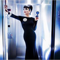 """Bianca Del Rio """"Hold the Elevator"""" via her FB page.  Gorgeous."""