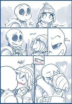 Sans E Frisk, Sans X Frisk Comic, Undertale Love, Anime Undertale, Undertale Memes, Undertale Ships, Undertale Drawings, Anime Harem, Pocky Game