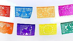Papel picado banners - 12 feet long, 10 tissue panels per banner, $3.49 each
