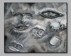 Sergio Raffo Archeologia Proibita (2013). Acrilico su tela con creta e colla