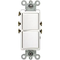 Single Pole Duplex Change White Leviton Set up 2 single pole switches in a single gang area. 15A/120/277V, 1/2 HP 120V, 2 HP 240V. (The entire mixed load f