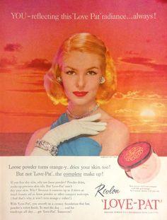 Revlon 'Love Pat' Powder Compact Ad, 1958