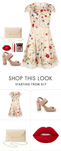 """""""Date"""" by fatyespinosa1 on Polyvore featuring moda, Alice + Olivia, Lady Godiva, Charlotte Russe, Lime Crime, Maybelline y Charlotte Tilbury"""
