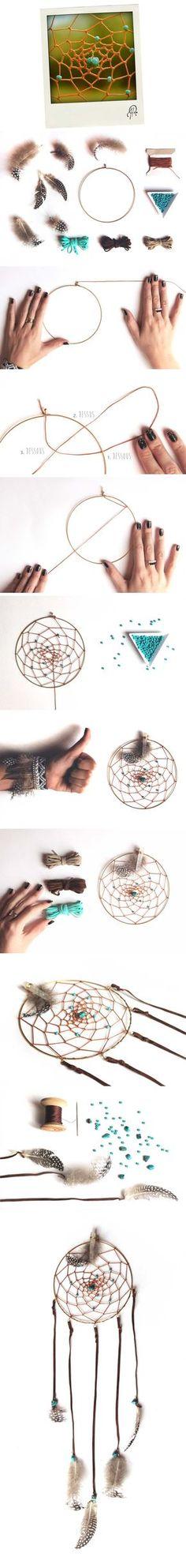 Comment fabriquer un Attrape Rêves par Fanny Rubambelle! Plus de détails sur www.rubambelle.com // Dreamcatcher