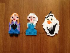 Frozen: Anna, Elsa and Olaf Perler Beads by SongbirdBeauty -  Check out the latest items in my store: www.etsy.com/shop/songbirdbeauty