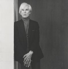 Andy Warhol, by Robert Mapplethorpe. Gelatin silver print Image: x cm x 15 in.) Promised Gift of The Robert Mapplethorpe Foundation to the J. Paul Getty Trust and the Los Angeles County Museum of Art, © Robert Mapplethorpe Foundation Patti Smith, Robert Mapplethorpe Photography, Portrait Photography, Fashion Photography, White Photography, Andy Warhol Photography, Editorial Photography, Tv Movie, Jean Michel Basquiat
