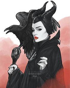 Maleficent Drawing, Maleficent Movie, Malificent, Arte Disney, Disney Fan Art, Disney Love, Disney Princess Tattoo, Punk Princess, Tattoo Disney
