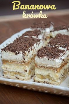 Polish Desserts, Polish Recipes, Kolaci I Torte, Pecan Cake, Fudge Cake, Cake Flavors, Banana Recipes, Cheesecake Recipes, Sweet Treats