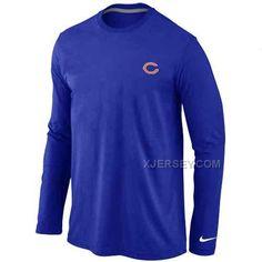 http://www.xjersey.com/chicago-bears-logo-long-sleeve-tshirt-blue.html CHICAGO BEARS LOGO LONG SLEEVE T-SHIRT BLUE Only $30.00 , Free Shipping!