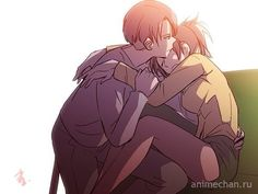 *carefully carries you up into my arms* Time for you to stop science for one night. *stares down at your drowsy face* You need sleep, Hanji.