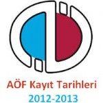2012 – 2013 Açık Öğretim Kayıtları Ne Zaman ?