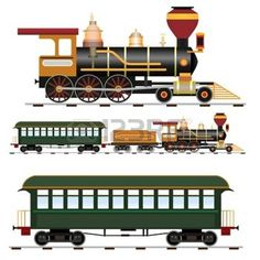 calèche: Train à vapeur rétro avec l'entraîneur