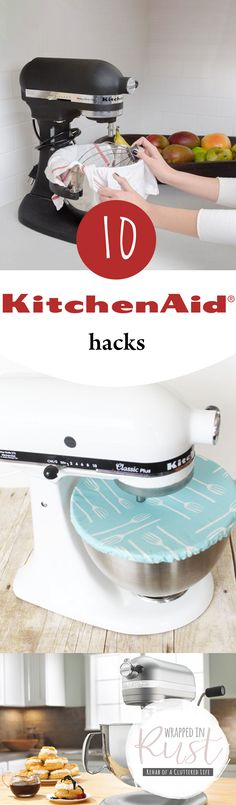 Kitchen Aid Hacks, Tips and Tricks, Things to Do With Kitchen Aid Mixers *Covering the bowl with a shower cap is genius.