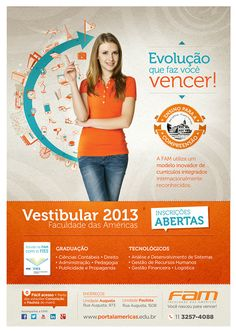 Campanha Vestibular 2013 FAM on Behance