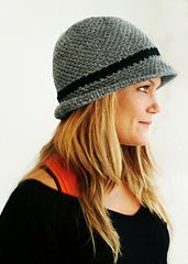 This is my version of a fedora/bowler hat - with a trendy touch!