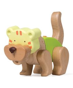 Take a look at the Click 'N Play Wood Tiger Toy on #zulily today!